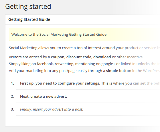 Social Marketing Getting Started