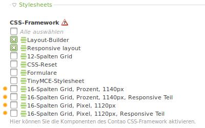 Layout CSS-Framework