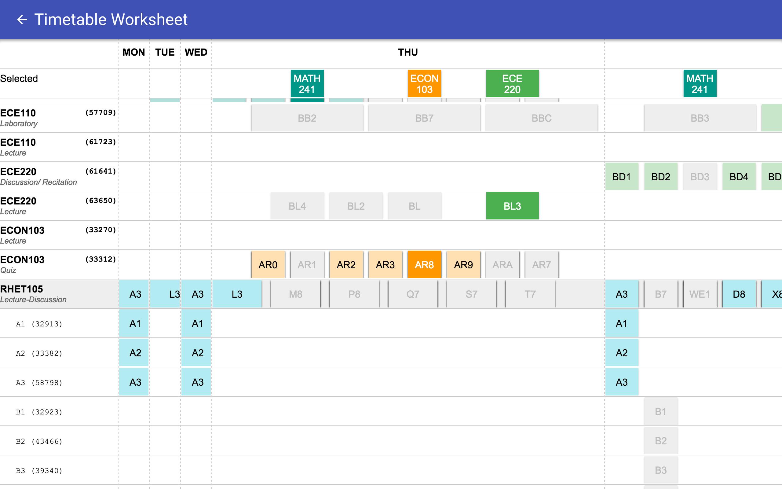 Screenshot of worksheet