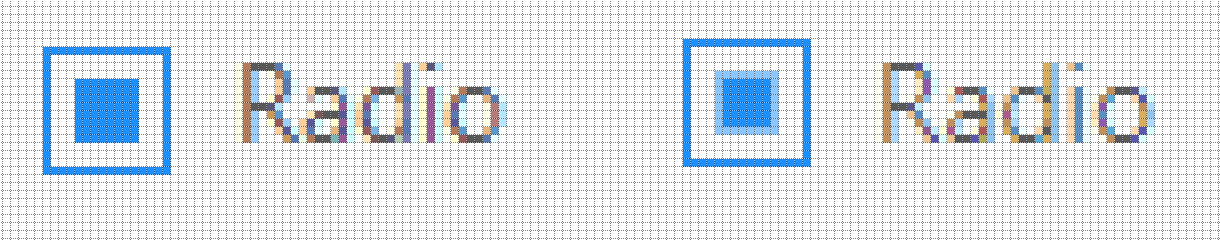 Firefox vs Chrome with .876 scaling and no round borders