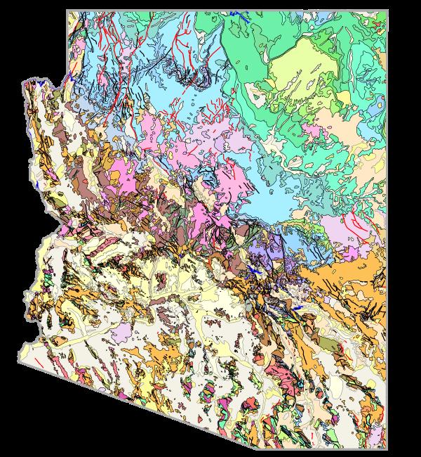 GitHub  Azgsgeologicmapofarizona The Geologic Map Of