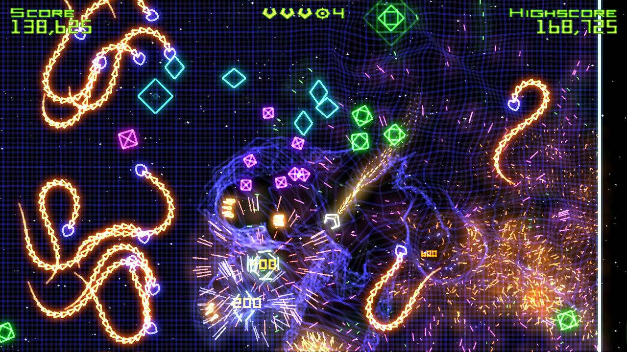 Reference image of Geometry Wars: Retro Evolved