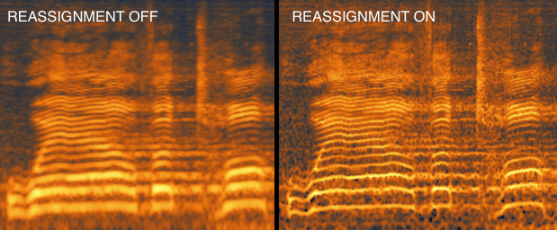 Reassigned spectrogram for an audio signal · Issue #160 · scikit