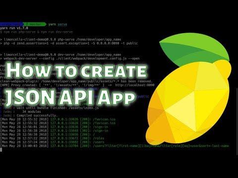 How to create JSON API application