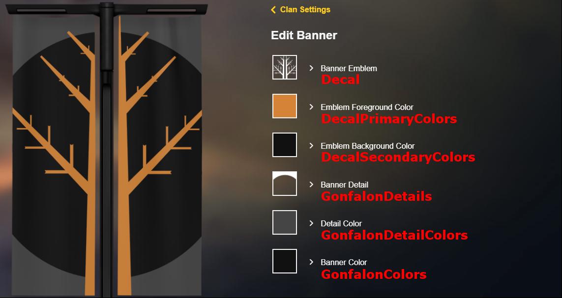 Building Your Clan Banner: How To · xlxCLUxlx/Destiny2API
