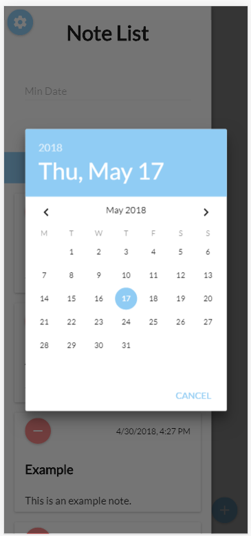 Sort by Edit Date Screen Search Example