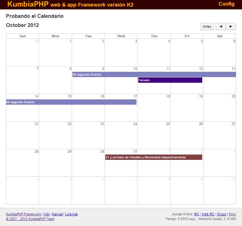 Ejemplo Calendar