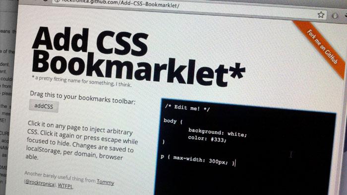 Add CSS Bookmarklet