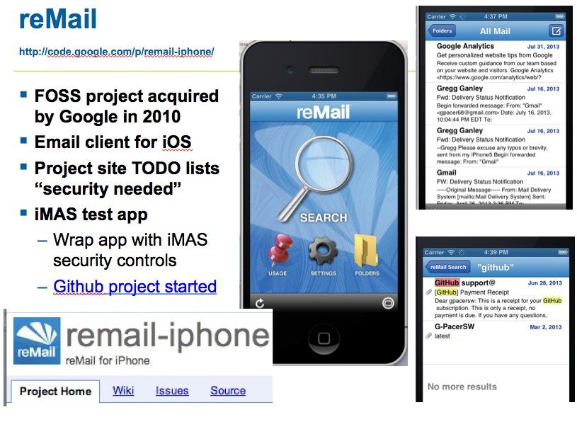 reMail and iMAS
