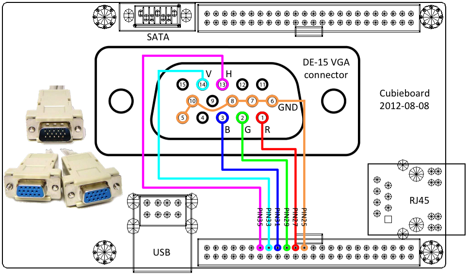 Vga Pinout Diagram - Wiring Diagram •