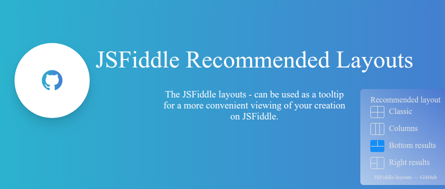 JSFiddle-Layouts