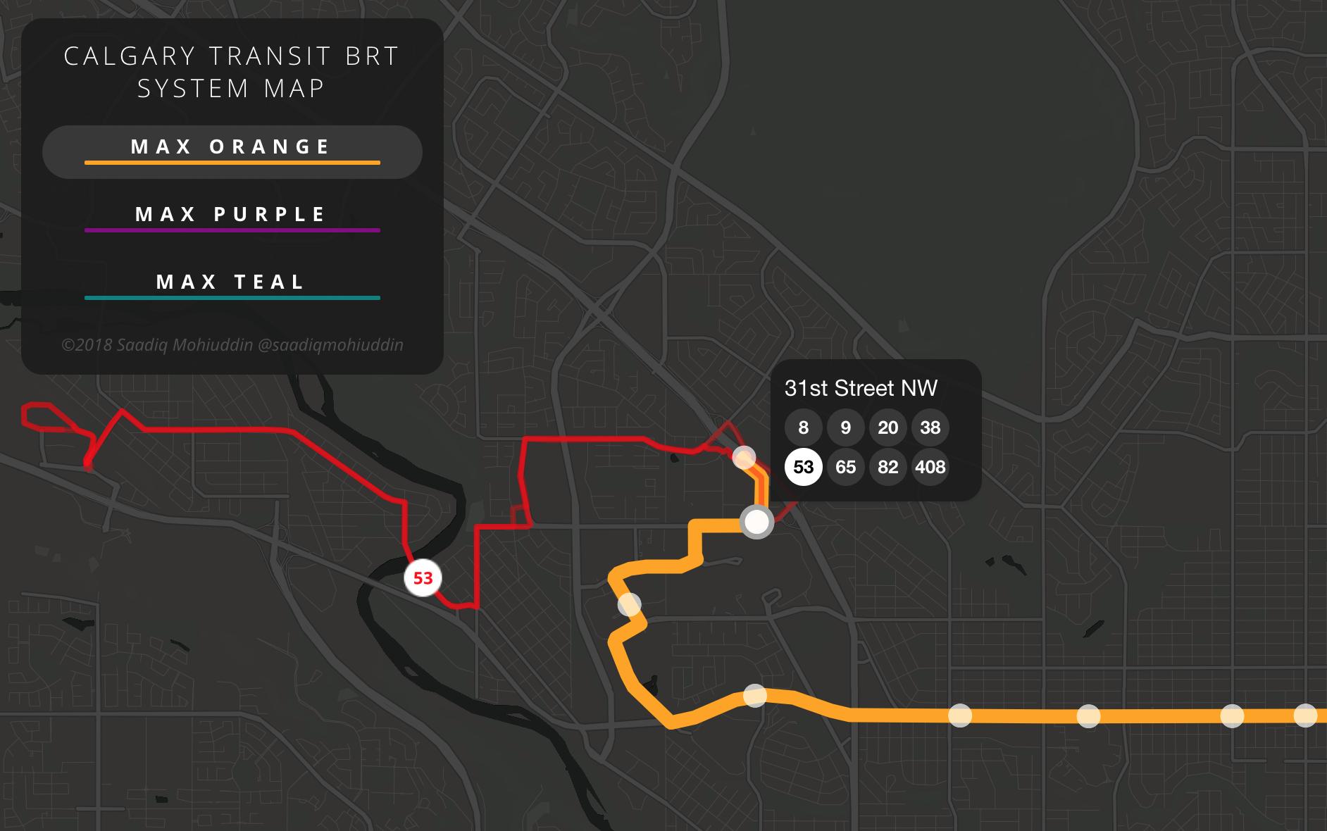 Calgary BRT Map