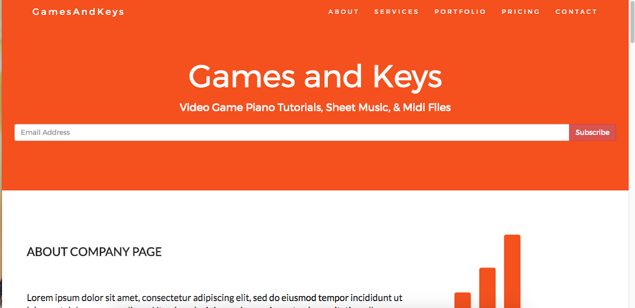 Games and Keys About Page