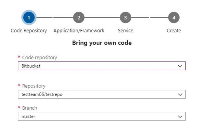 BitBucket repositories in DevOps Projects
