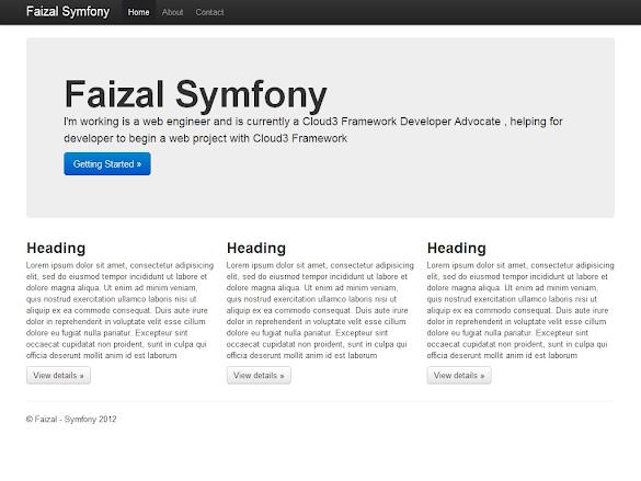Screenshot of Symfony2 Twitter by Faizal Pribadi, Frontend Screenshoot.