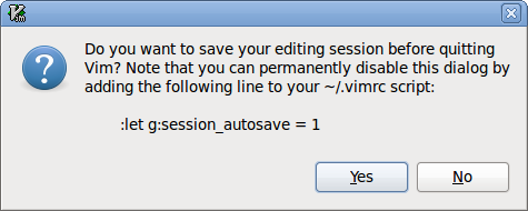 Screenshot of auto-save prompt