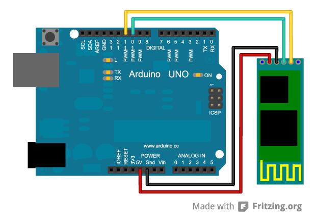 HC-06 and Arduino - Schematics