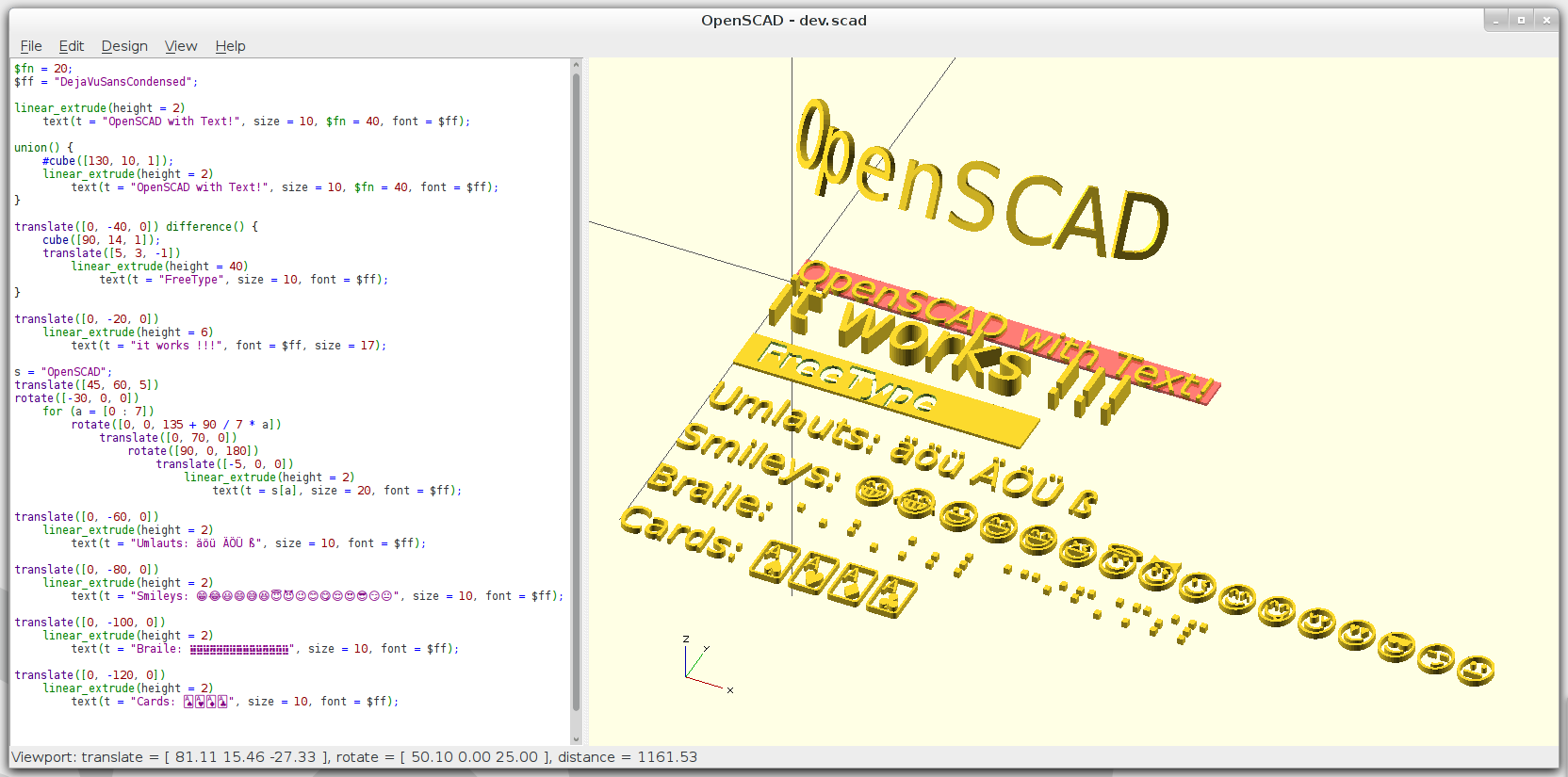 text() module [$200 awarded] · Issue #512 · openscad