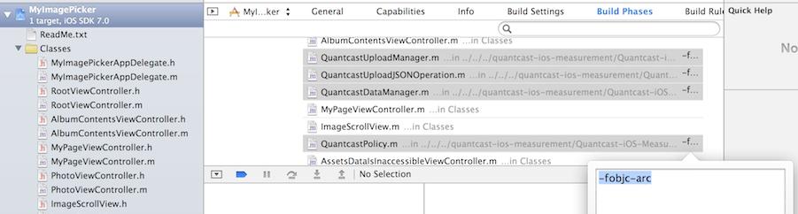 Screenshot - Set Compile Flag