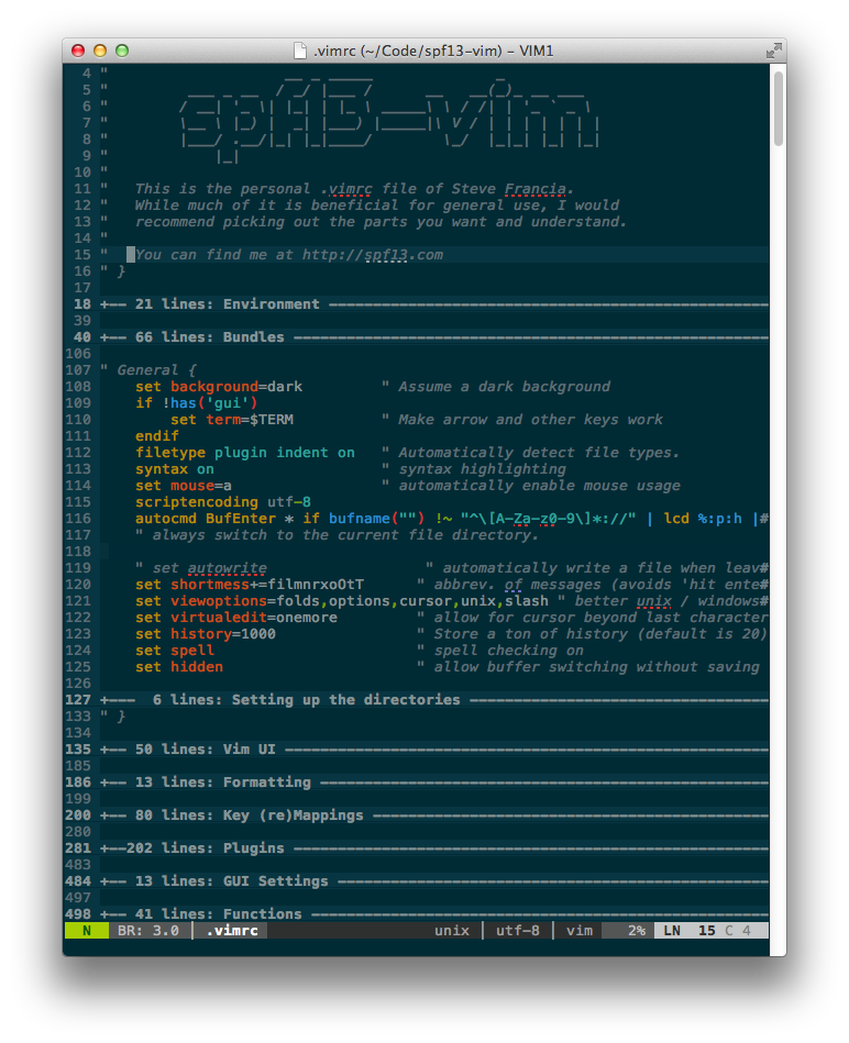 GitHub - spf13/spf13-vim: The ultimate vim distribution