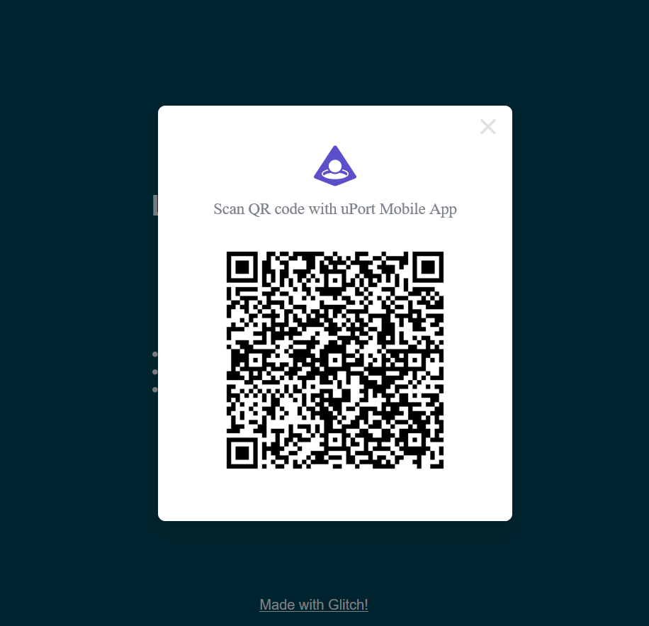 qrcode uport