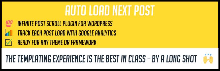 Auto Load Next Post, Infinite post scroll for WordPress