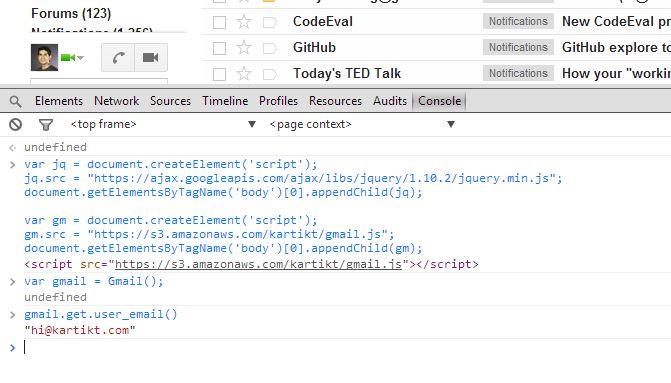 JavaScript API for Gmail