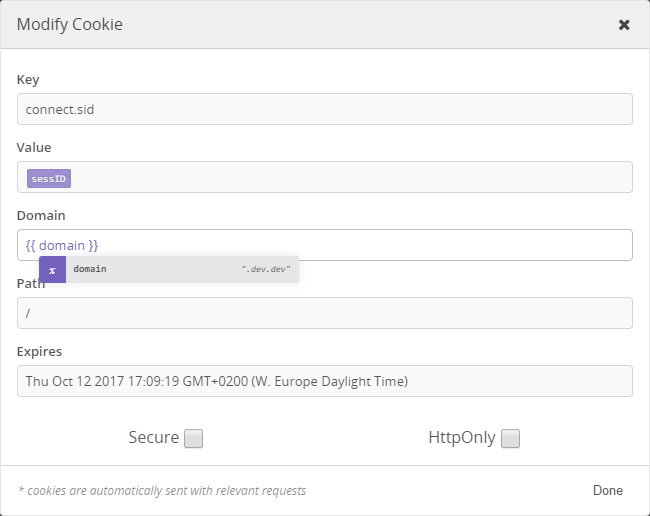New CookieModifyModal