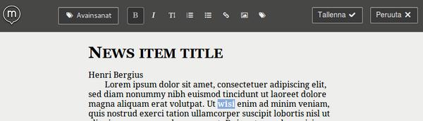 Create.js in Finnish