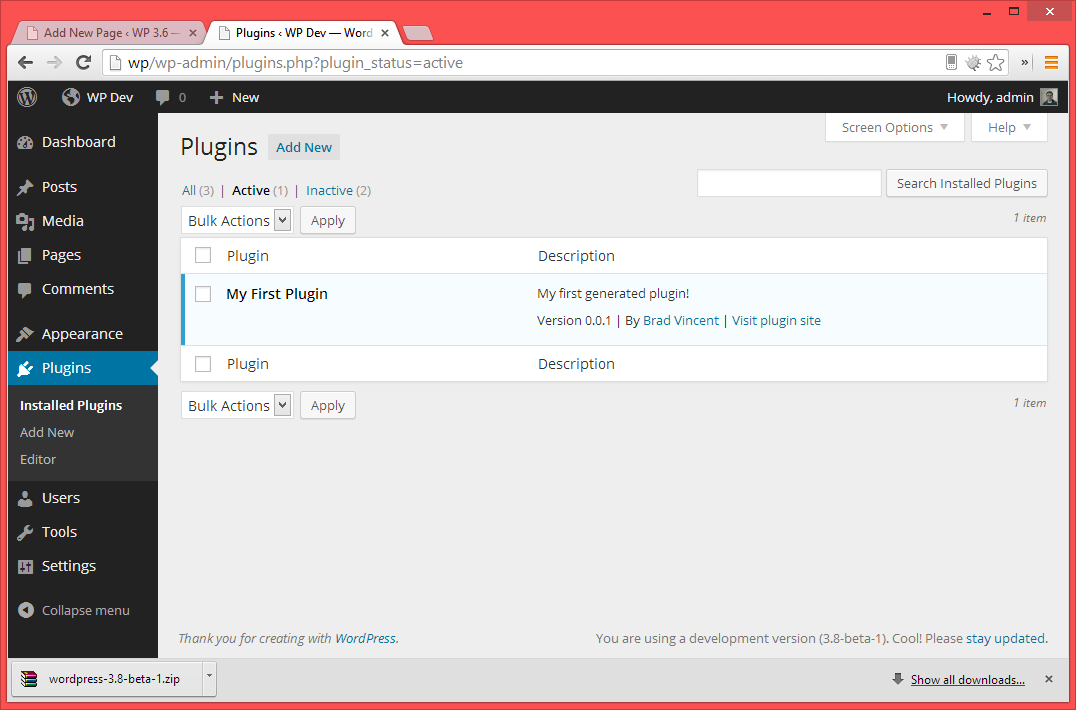 Output Plugin In WP