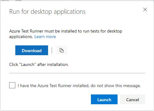 Azure Test Runner install