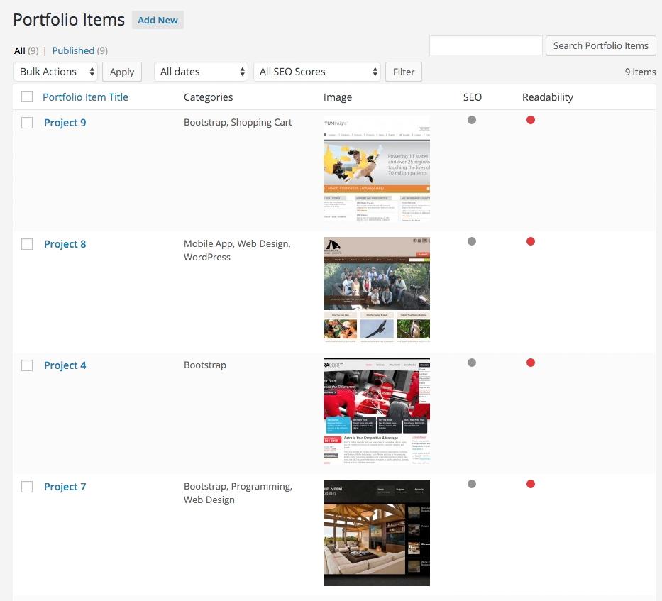 Fancy Grid Portfolio custom post type view