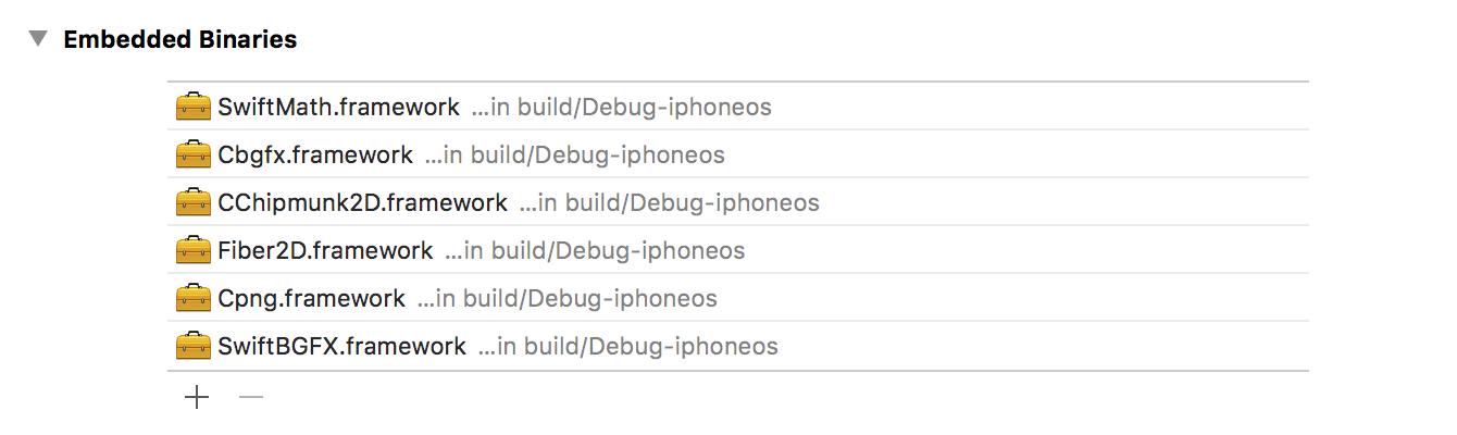 Embedded binaries example