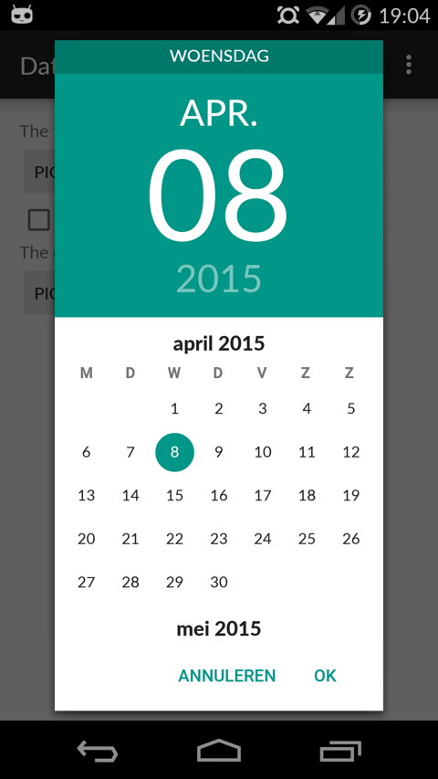 GitHub - wdullaer/MaterialDateTimePicker: Pick a date or time on