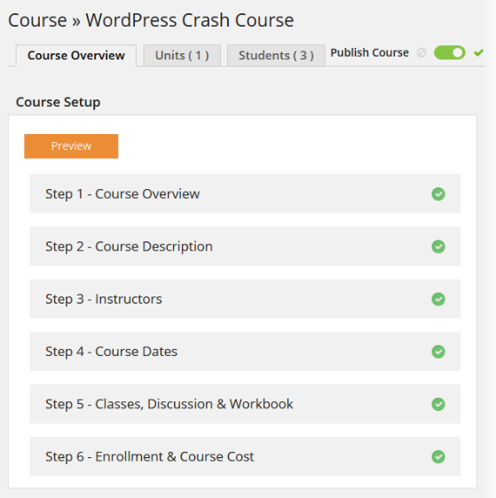 CoursePress - Course - Course Overview