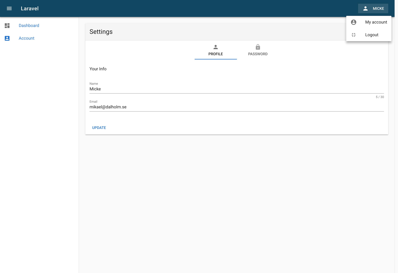 GitHub - dalholm/laravel-spa-vuetify-starter: A simple lightweight
