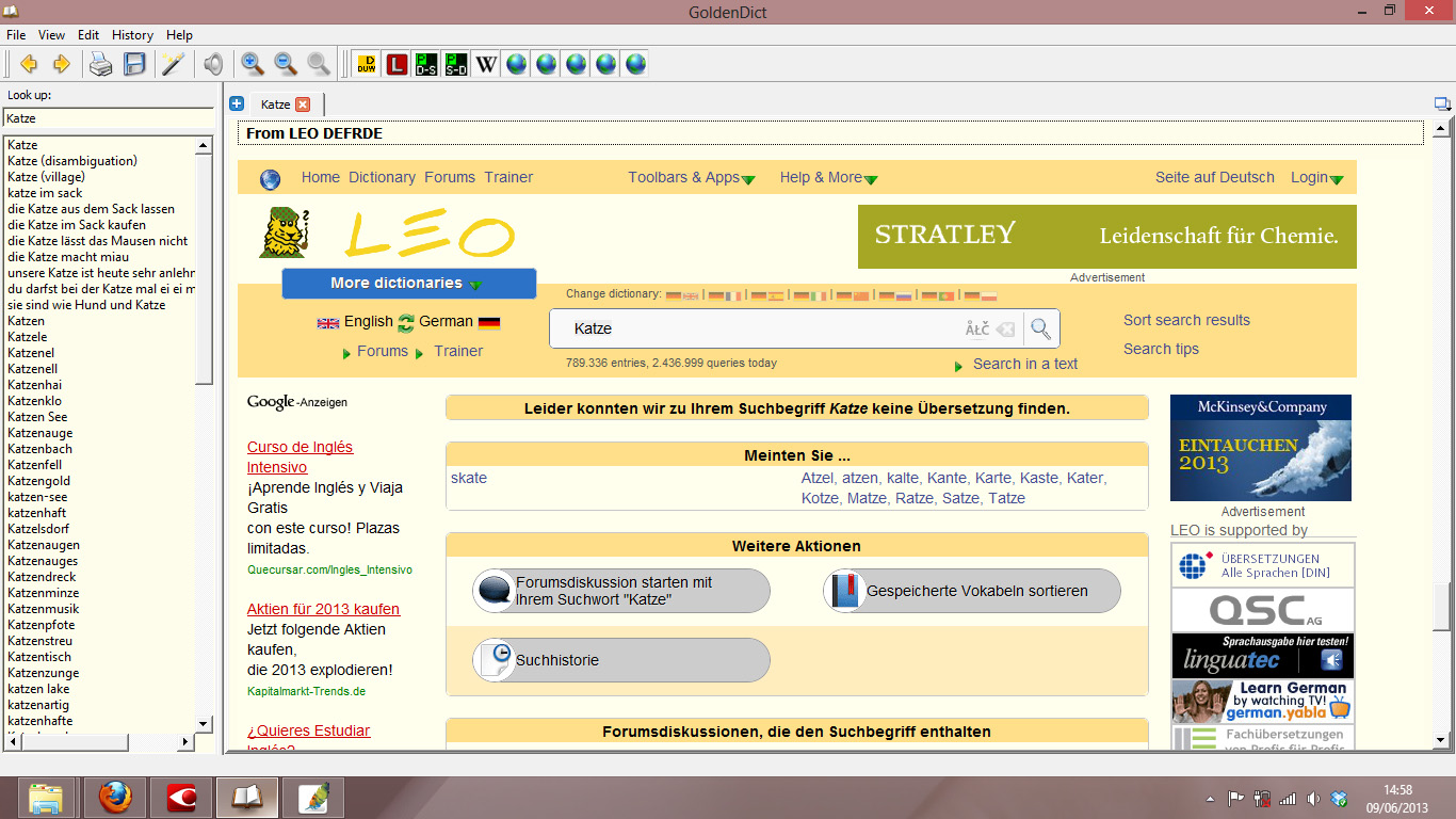 LEO online dictionary doesn't work · Issue #346 · goldendict