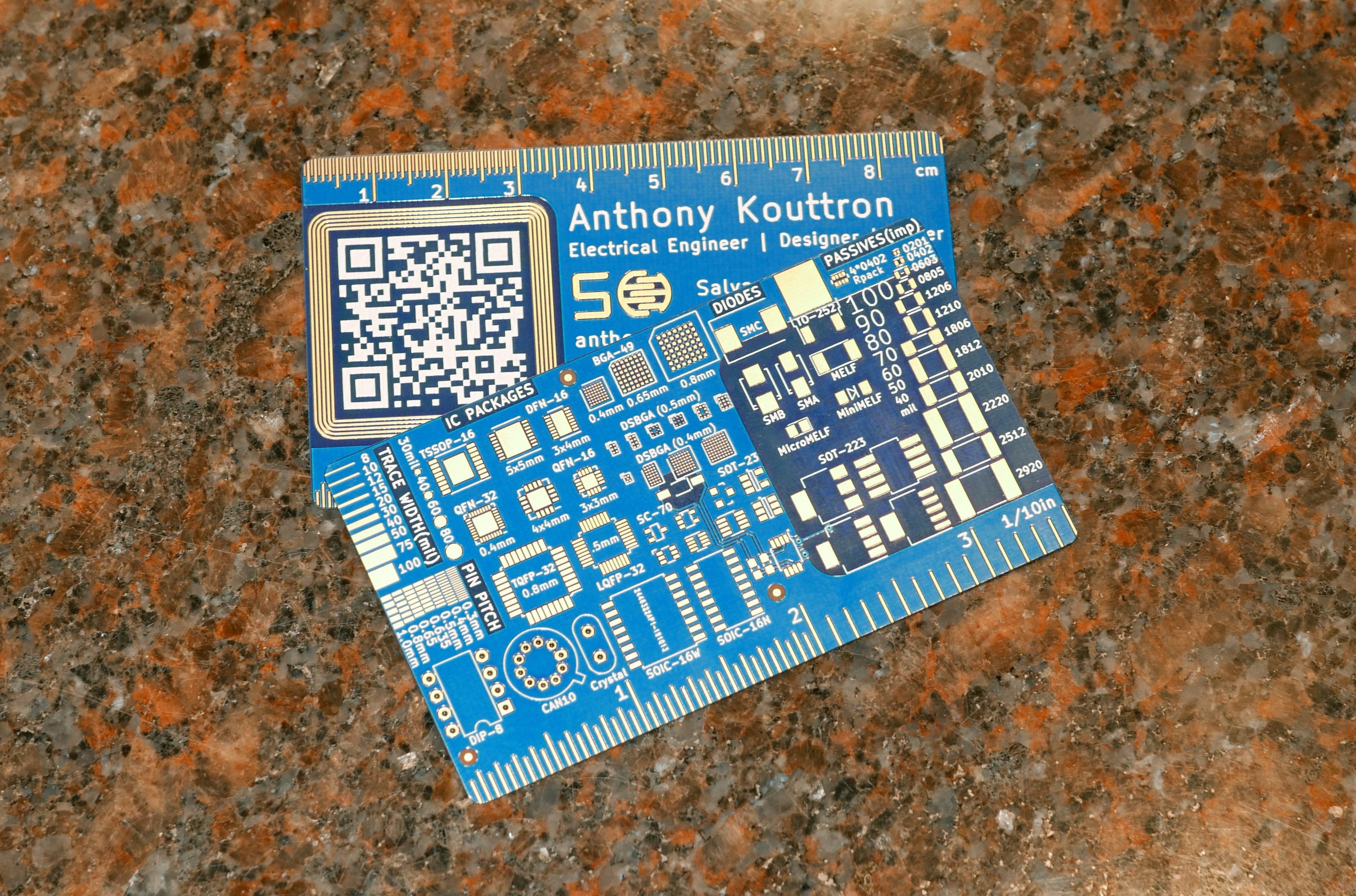new nfc pcb business card  pcb designs