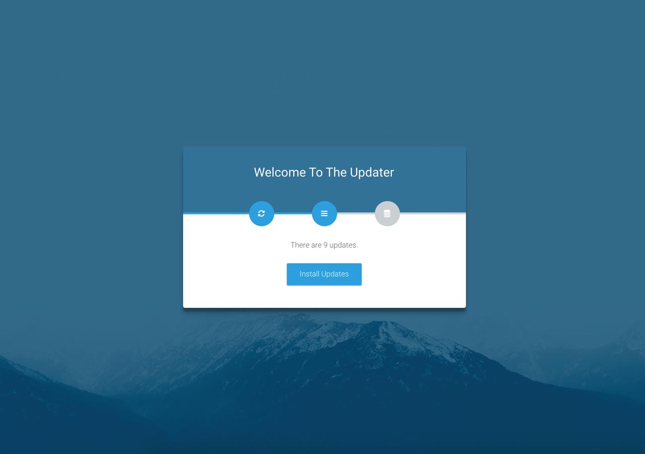 Laravel web updater | Step 2