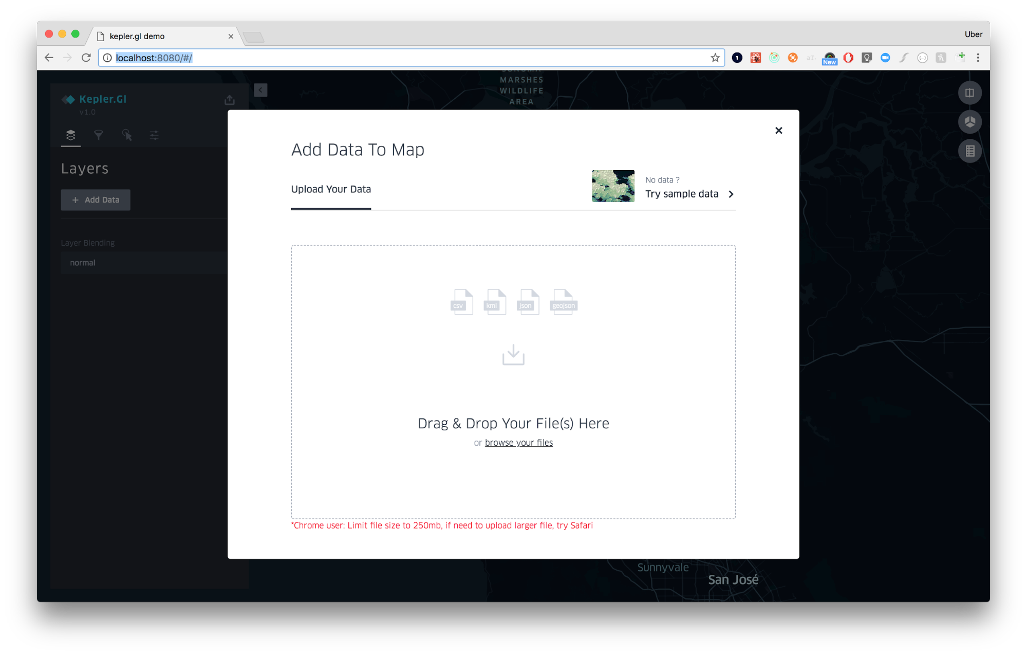 Add data to the map pop up