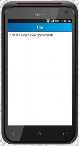 SingleViewApp