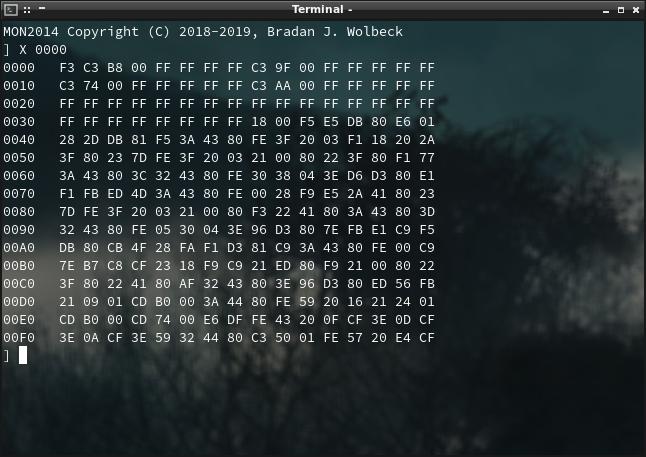 Screenshot of Hexdump