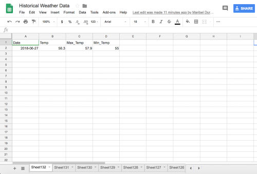 Weather Api Only Allows 1 Days Worth Of Historical Data Similar Issue With Other Services Ideally A Paid Service