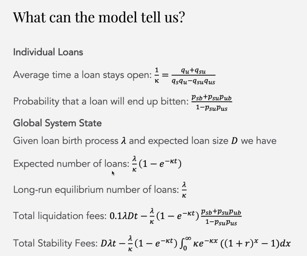 What can the model tell us?