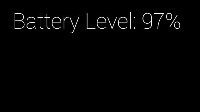 Battery Level Screen