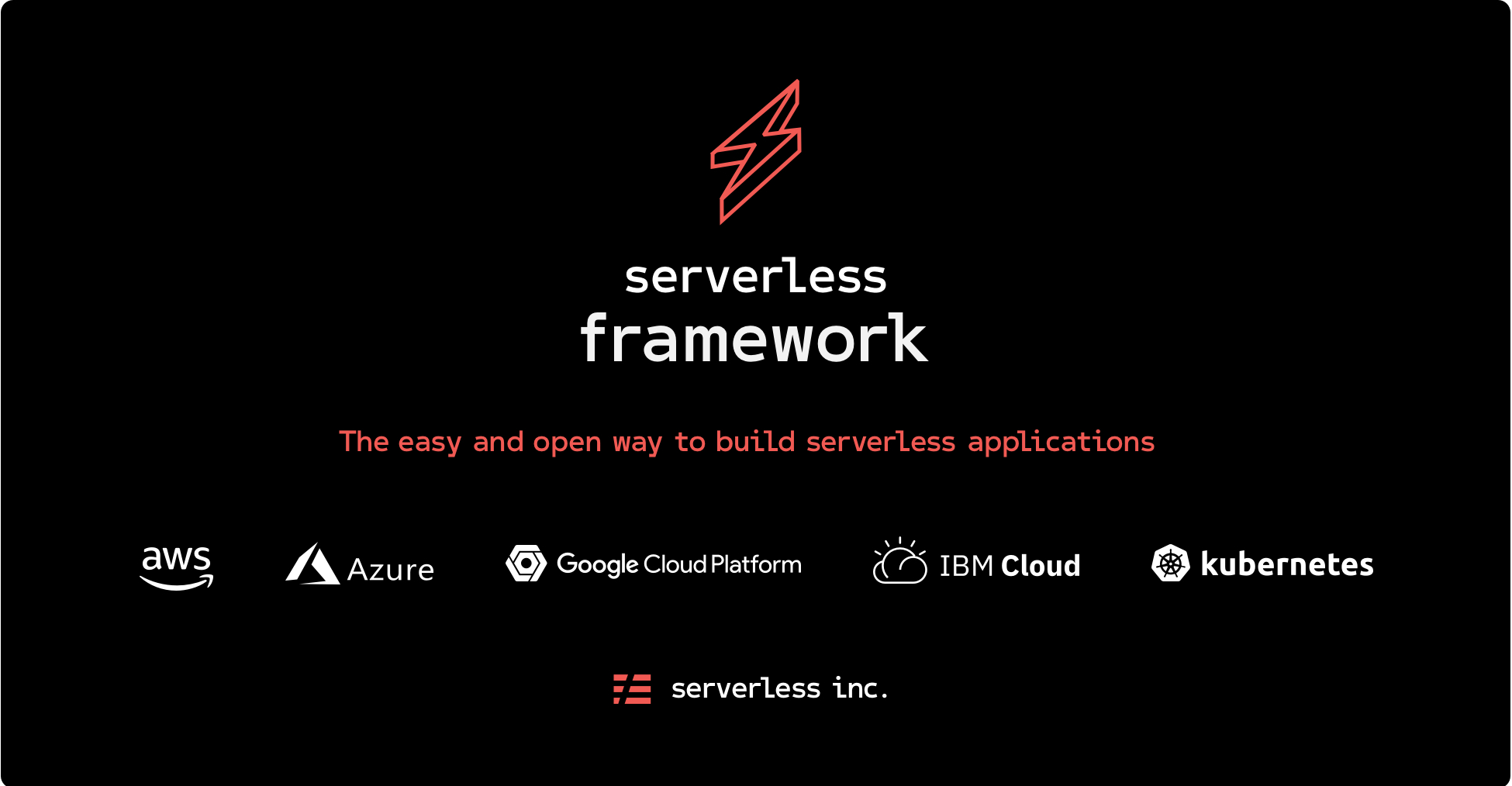 Serverless Application Framework AWS Lambda API Gateway
