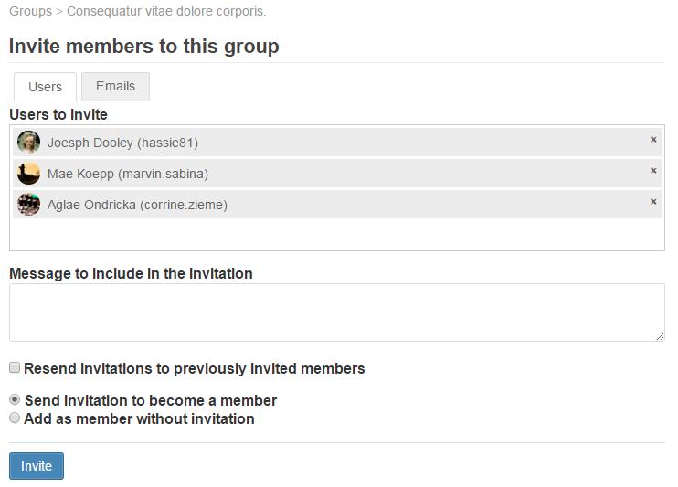 Invite UI