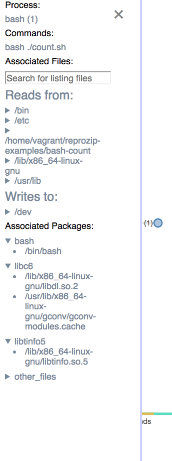 list of packages and files with in: