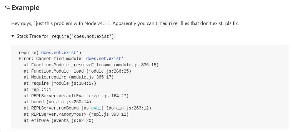 Screenshot of Firefox 50.1.0 showing the <summary> arrow