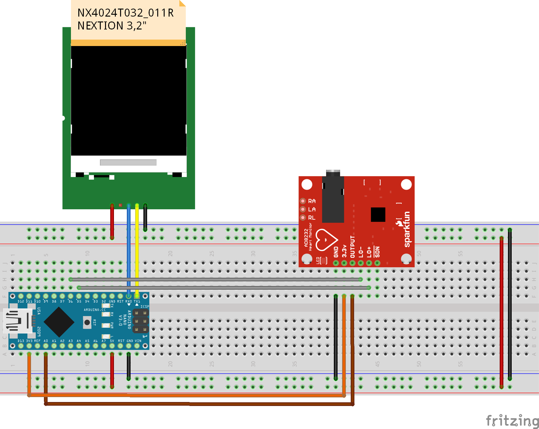 GitHub - gabrielborralho/EKG-Nextion-Display: This